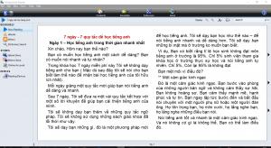 Giao diên phần mềm Mobipocket Reader Desktop - Trung tâm ngoại ngữ Parki Đà Nẵng.